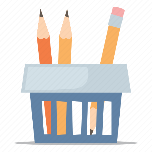 education, office supplies, pencil icon