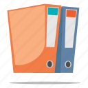 documents, files, ring binder icon