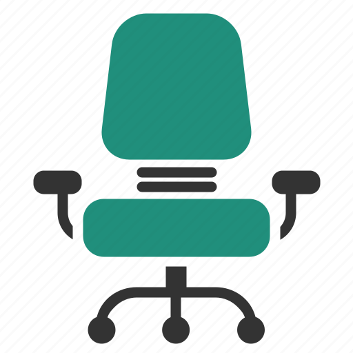 armchair, business, chair, desktop, furniture, indoor, interier, office, office chair, office supplies, seat, working place, workplace icon