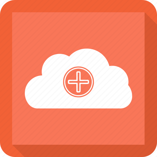 cloud, pluse, weather icon