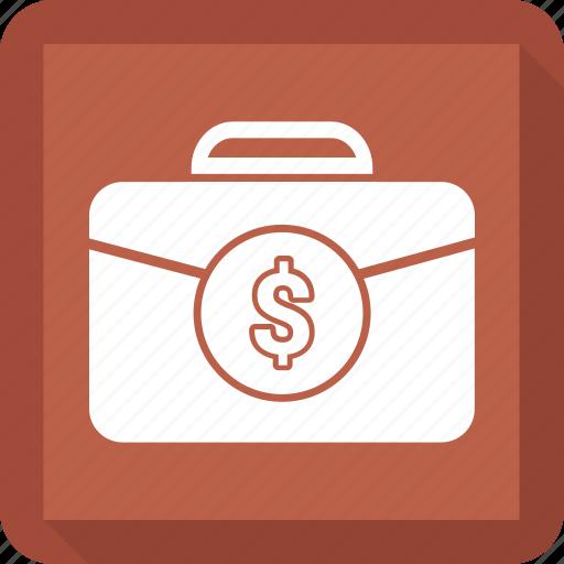 bag, case, dollar, office, office bag, portfolio icon