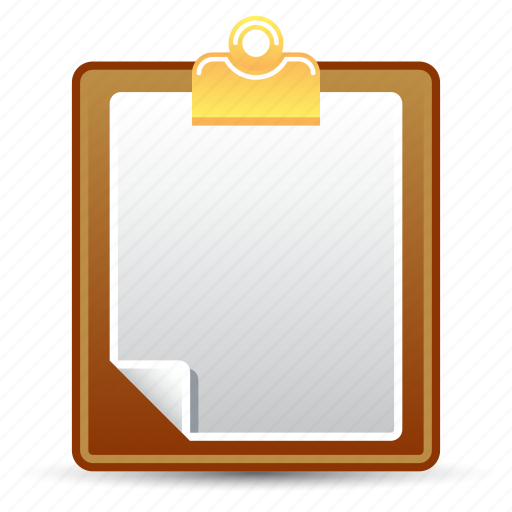 clipboard, document, file, office supplies icon