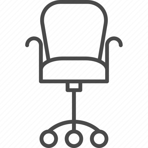 business, chair, furniture, interior, office icon