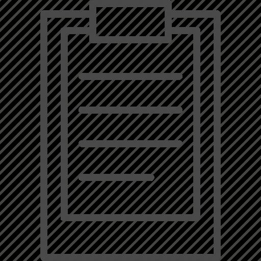 board, business, checklist, clip, clipboard, notepad, office icon