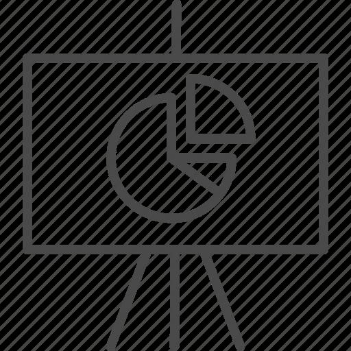 analytics, board, business, chart, graph, presentation, statistics icon
