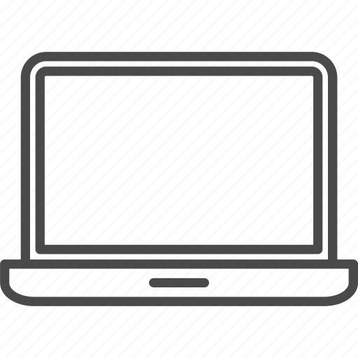 computer, device, display, gadget, laptop, notebook, technology icon