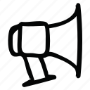 megaphone, talk, volume icon