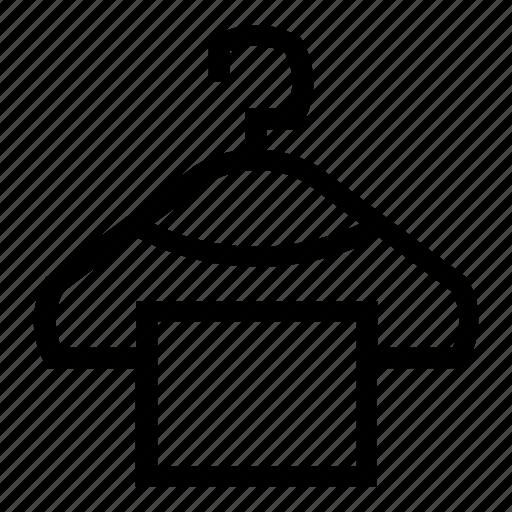 closet, clothes, clothes hanger, hanger, sign, towel icon