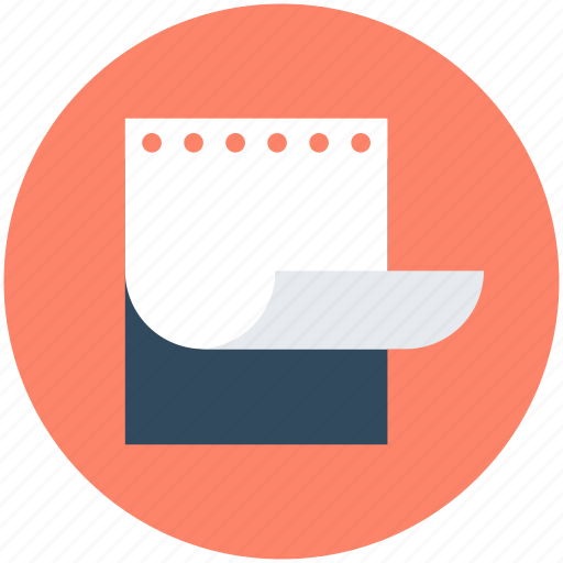 Jotter, notebook, notepad, scratch pad, writing pad icon - Download on Iconfinder