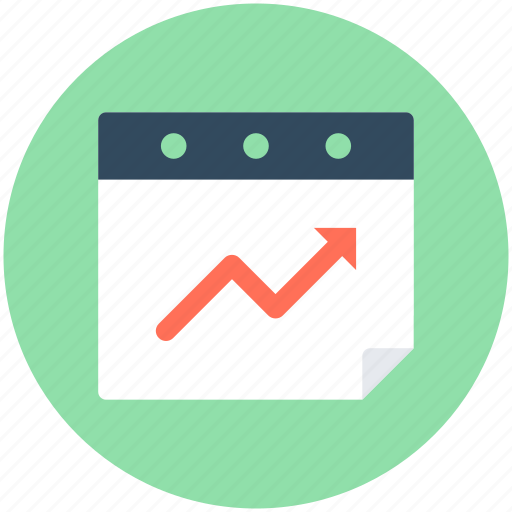 Graph screen, growth arrow, seo graph, web ranking, web rating icon - Download on Iconfinder
