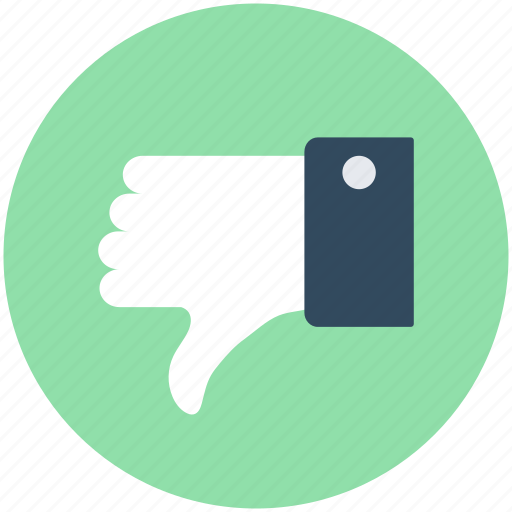 Denied, dislike, hand gesture, rejected, thumb down icon - Download on Iconfinder
