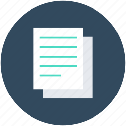 contract, document, note, office document, text sheet icon