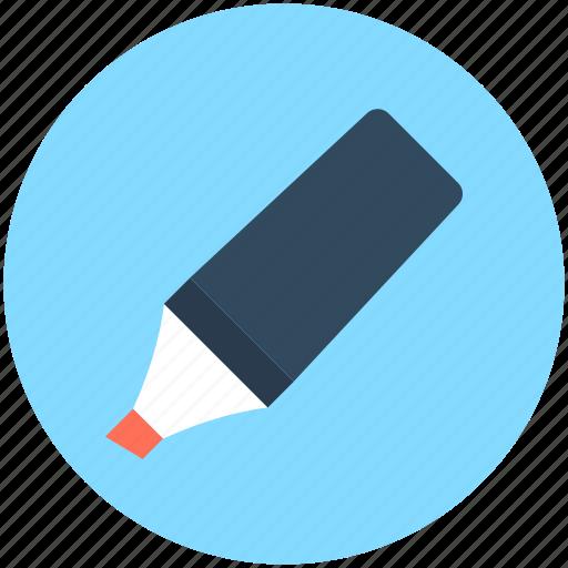 Board marker, highlighter, marker, marker pen, stationery icon - Download on Iconfinder