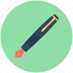 fountain pen, ink pen, office supplies, stationery, writing icon