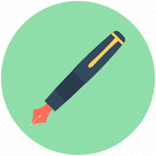 Fountain pen, ink pen, office supplies, stationery, writing icon - Download on Iconfinder