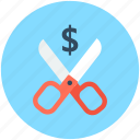 cutting tool, cutting voucher, discount, percentage, scissor icon