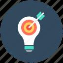 bulb, creative, idea, idea target, innovation