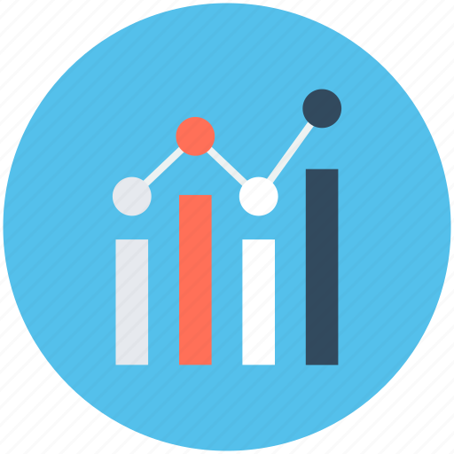 business chart, graph, growth chart, infographic, progress chart icon