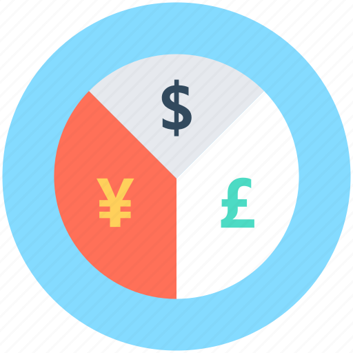 Currency, currency graph, currency value, money, pie graph icon - Download on Iconfinder