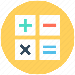 calculation, finance, math symbol, mathematics, maths icon