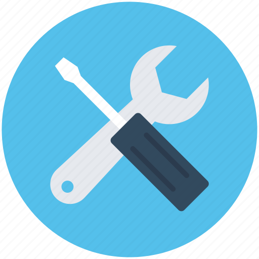 Repair tools, screwdriver, settings, spanner, wrench icon - Download on Iconfinder