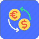 currency, foreign exchange, money conversion, currency exchange, money exchange icon