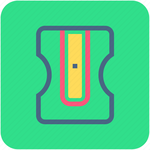 pencil cutter, pencil sharpener, school supplies, sharpener, stationery icon