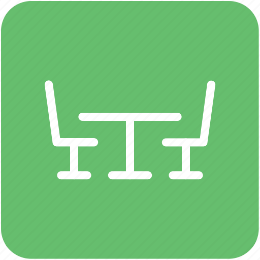 chair, dining table, furniture, restaurant table, table icon