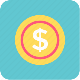 cash, currency coin, dollar, dollar coin, money icon