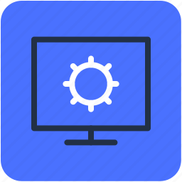 cog, gear, monitor configuration, monitor setting, options icon