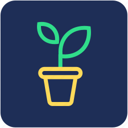 gardening, nature, plant, plant pot, potted plant icon
