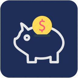 cash bank, money bank, money box, penny bank, piggy bank icon