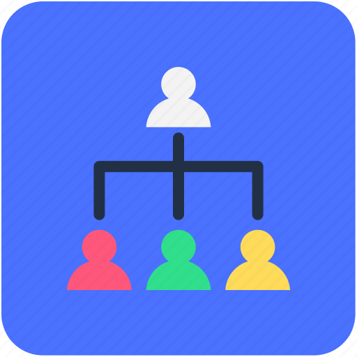 group, organization structure, people hierarchy, team, users icon