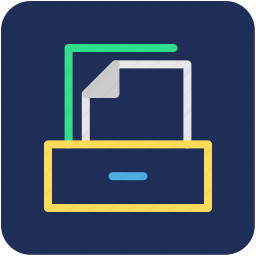 files drawer, files rack, files stack, files storage, office supplies icon