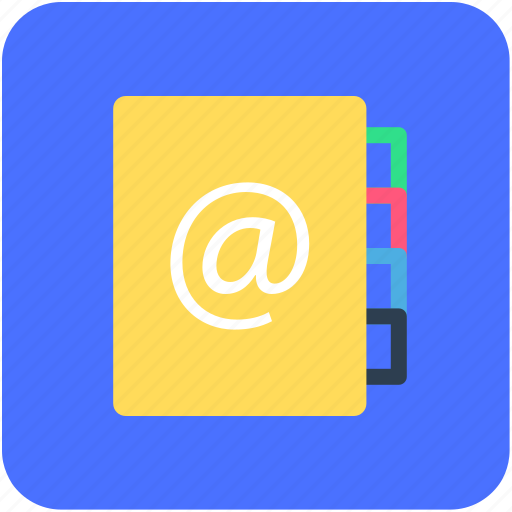 address book, contactbook, contacts list, email addresses, email contacts icon