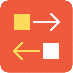 arrows, data exchanging, data sharing, data transferring, directional icon