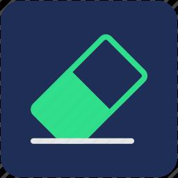 eraser, office supplies, rubber, school supplies, stationery icon