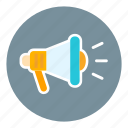 announce, business, loud, megaphone, news, notification, office icon