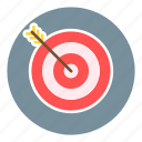 business, marketing, office, target audience, target group, target marketing, target users icon