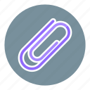 business, cipping, clinch, clip, office, paper clip, paperclip icon