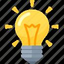 brainstorming, business idea, light bulb