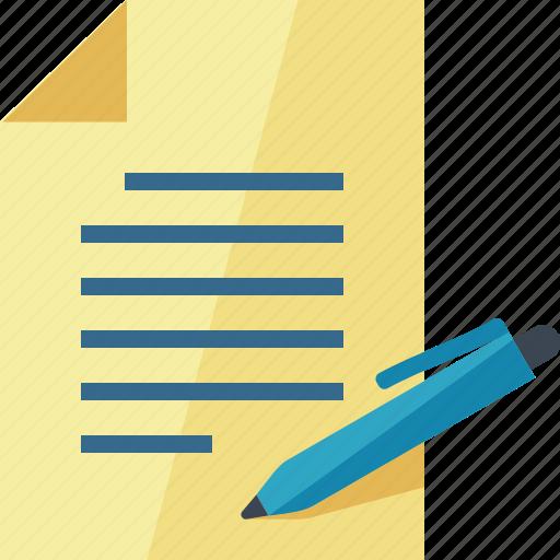contract, cv, document, file icon