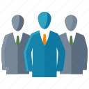 businessman, group of people, leadership, team icon