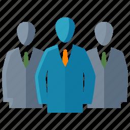 businessman, group of people, leadership, team icon