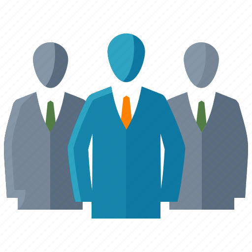 Businessman, group of people, leadership, team icon | Icon ...