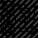 agile, planning, methodology, development, rotation icon