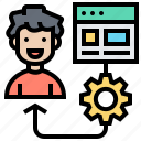 assignment, management, priority, setup, task icon