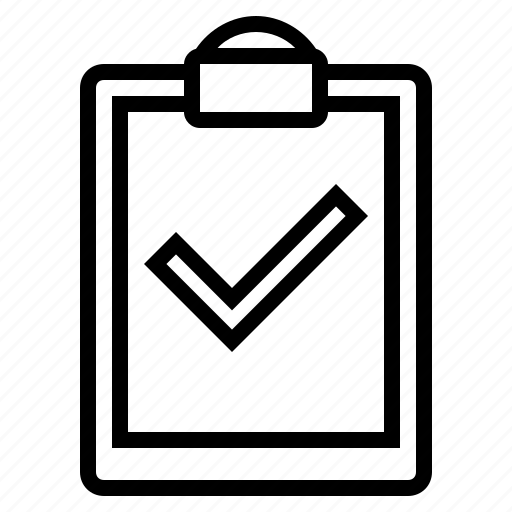 business, checkmark, clipboard, clipboard with checkmark, document icon