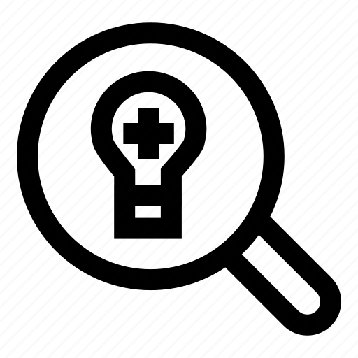 looking for idea, loupe, magnifying glass, searching, zoom icon