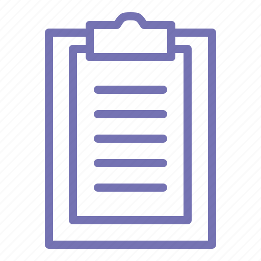 business, office, outline, placemat, school, write icon